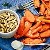 Roasted Carrots with Lemon-Cumin Aioli