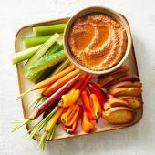 Roasted Red Pepper and Pecan Dip