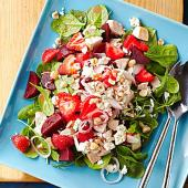 Rosy Red Salad with Chicken