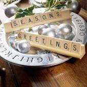 Christmas centerpiece ideas: scrabble