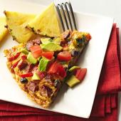 Southwestern Black Bean and Andouille Frittata