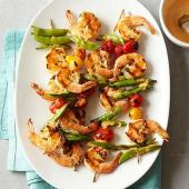 Spicy Shrimp and Sugar Snap Pea Kabobs