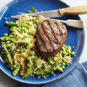 Spring Revival Couscous Salad with Filet Mignon