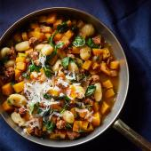Squash and Sausage Gnocchi