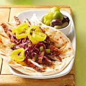 Sticky Asian Pork Wrap