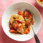 Tomato-Butter Pan Sauce with Mint
