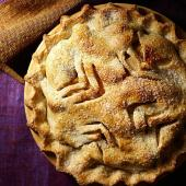 Triple Pear Pie with Walnut Crust