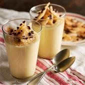 Vanilla Pudding with Chocolate Chip Cookie Brittle