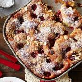 Very Cherry Hazelnut Coffee Cake