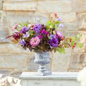 A purple garden bouquet