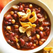 Three-Bean Beauty Chili