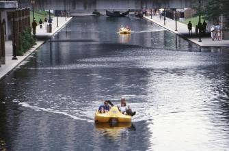 Canal boating in Indy.