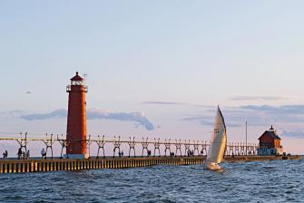 Grand Haven, Michigan's South Pier.