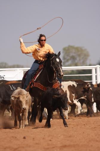 Championship Ranch Rodeo in Kansas.