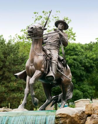 The Buffalo Soldier in Fort Leavenworth.