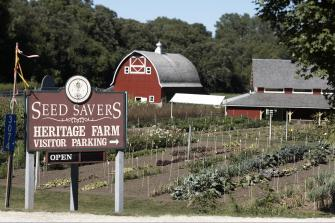 Gardens, a visitor's center and abundant garden supplies await visitors at Decorah's Seed Savers Heritage Farm.