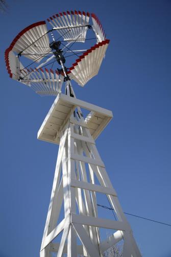 Windmill at Last Indian Raid Museum.