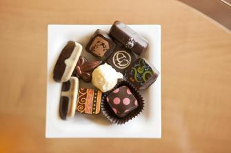 The chocolates of Cocoa Dolce.