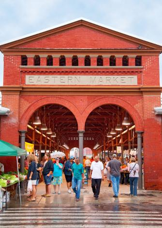 Detroit's Eastern Market is busiest on Saturdays.