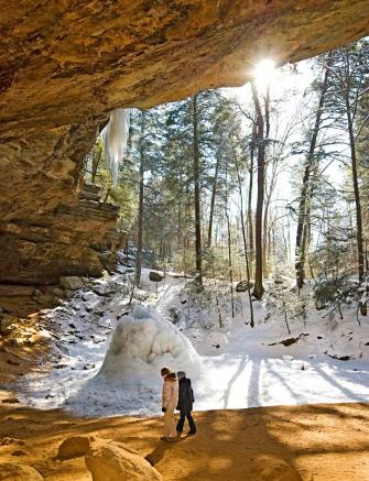 Hocking Hills Park has several separate places to explore, including popular Ash Cave.