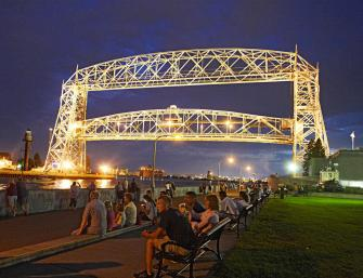 Duluth's Aerial Lift Bridge.