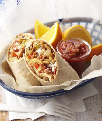 Breakfast Burritos.