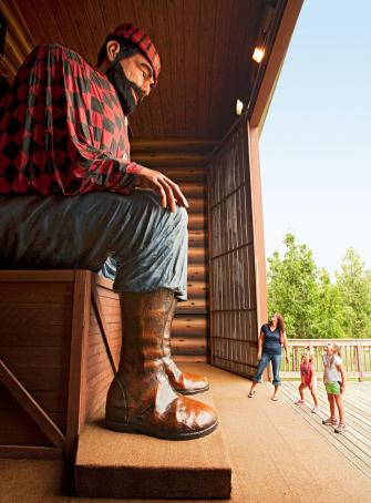 The massive statue at Paul Bunyan Land in Brainerd, Minnesota, greets kids with a booming voice as they approach.