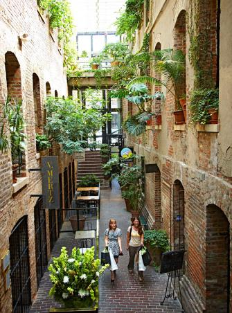 The Old Market Passageway is just one of many finds along the cobblestone streets lined with shops, galleries and restaurants.