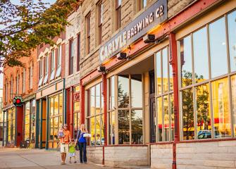 New tenants brighten old storefronts downtown.
