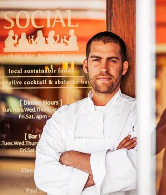 Chef Paul Sletten at Social Urban Bar and Restaurant.