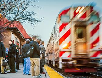 Dozens of trains stop at Hinsdale's downtown station each day.