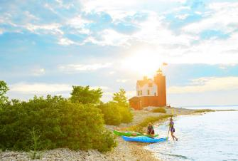 Kayaking in Mackinac Island area