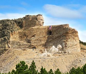 Crazy Horse Memorial.
