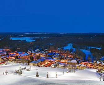 The view from the top of a ski hill at Crystal Mountain Resort in Thompsonville, Michigan. Photo Courtesy of Crystal Mountain Resort.
