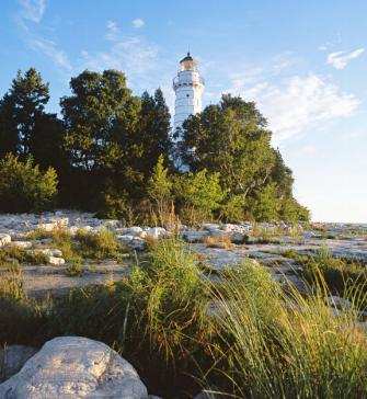 Cana Island Lighthouse. Door County, Wisconsin.