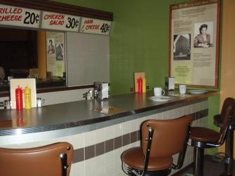 Segregation-era bar at the African-American Museum of Iowa in Cedar Rapids.