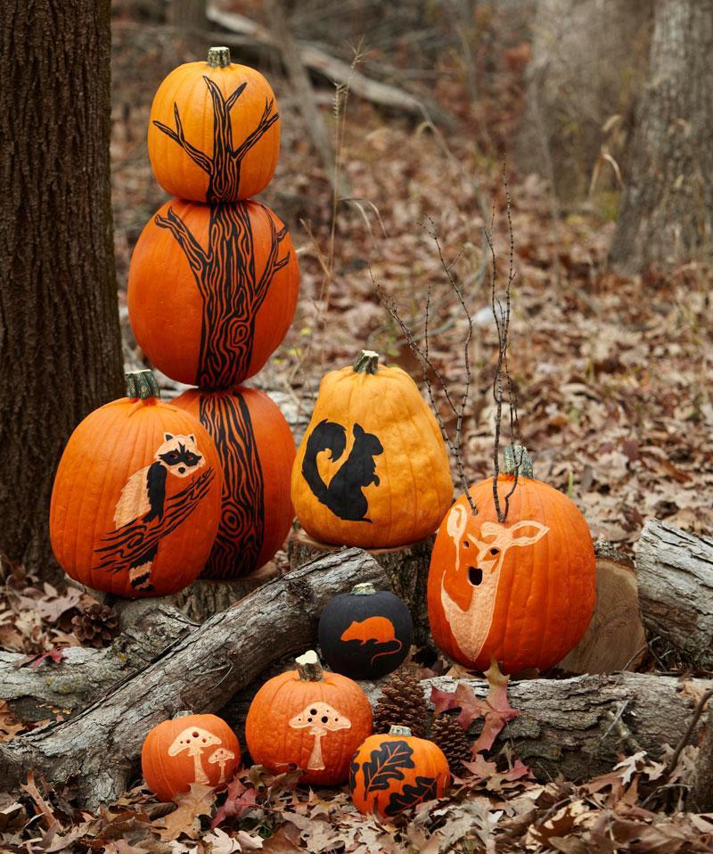 Small Pumpkin Decorations: How To Make A Pumpkin Tree