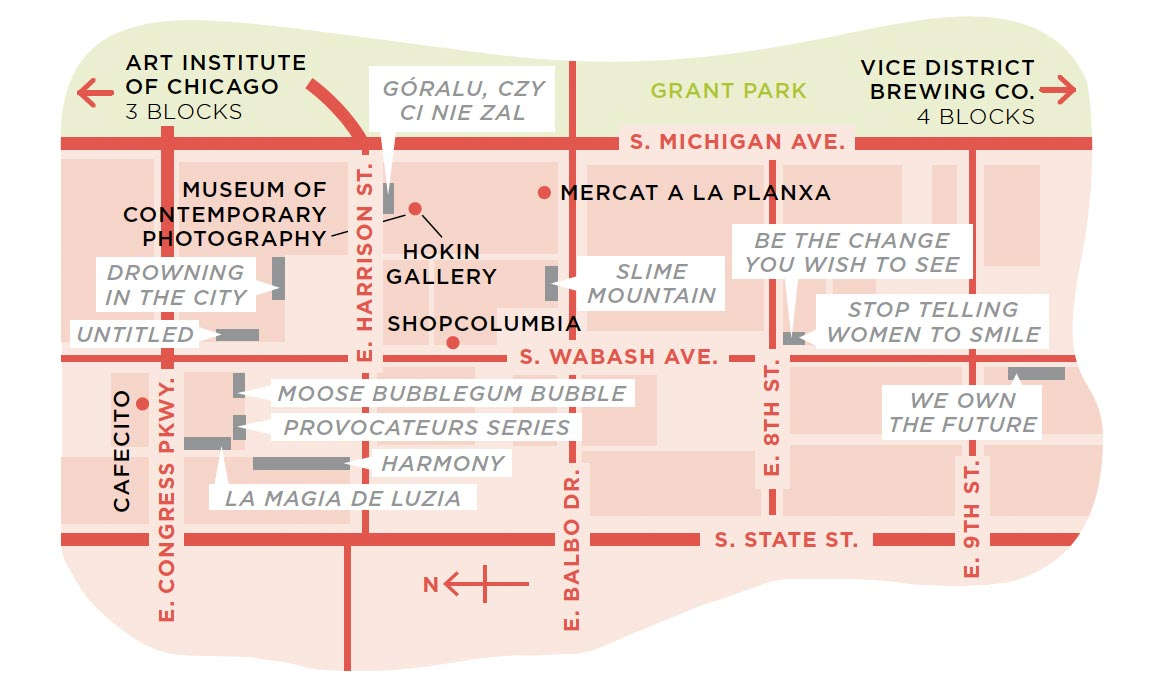 arts corridor map