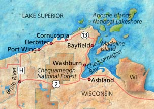 Wisconsin Scenic Drives Map Scenic Drive through Northern Wisconsin | Midwest Living