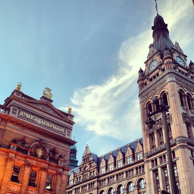 Pabst Theater and Milwaukee City Hall by @meagainoneil