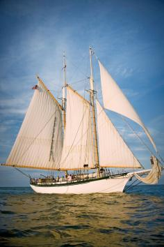 From May to October, the tall ship Appledore sails Saginaw Bay.