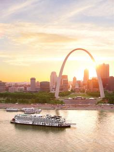 The American Queen riverboat near St. Louis.