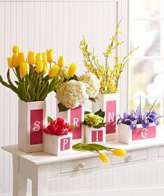 Seasonal vases.