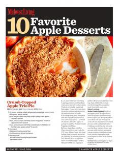Apple Desserts Cookbook