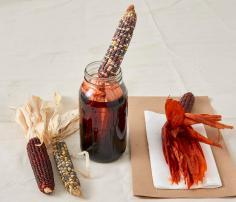 Corn husk dyeing