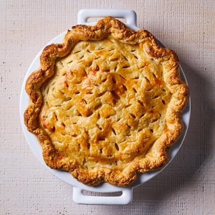 Bittersweet Chocolate and Pear Pie