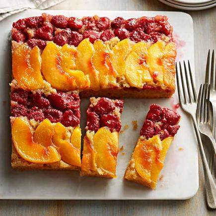 peach upside down cake midwest living march april 2017 recipes midwest living 6406