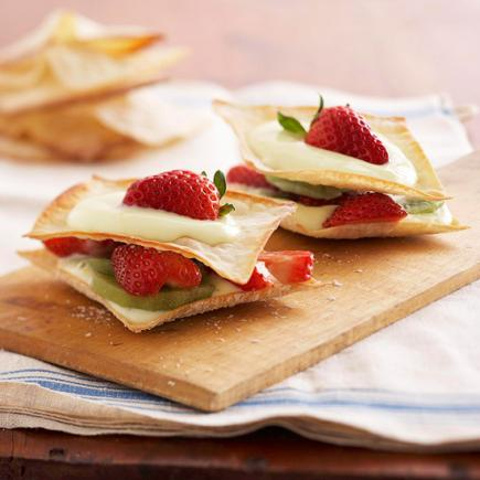 Quick And Easy Dessert Recipes Wonton Stacks
