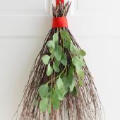 Twig door decoration