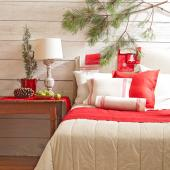 Holiday bed decorations